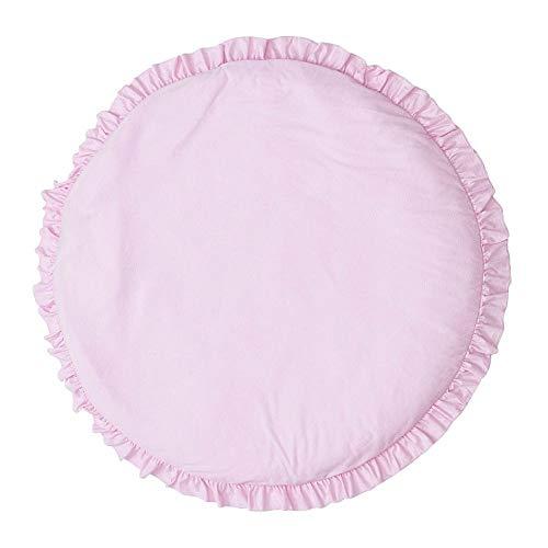 N-brand Alfombrilla de Juego para bebés, Color sólido, Juego de Encaje, Alfombrilla Redonda para niños, Interior y Exterior