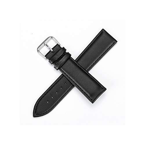 Lederband Dornschließe aus Edelstahl Uhrenarmbänder Lederband Plain Weave 12 24mm, Siehe Grafik, 19mm