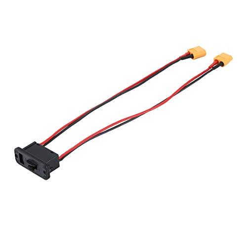 KoelrMsd Interruptor electrónico de Corriente Grande, Interruptor de batería Lipo, Interruptor de Encendido y Apagado con Enchufe XT60, Conjunto de Modelo RC para Coche RC, Barco