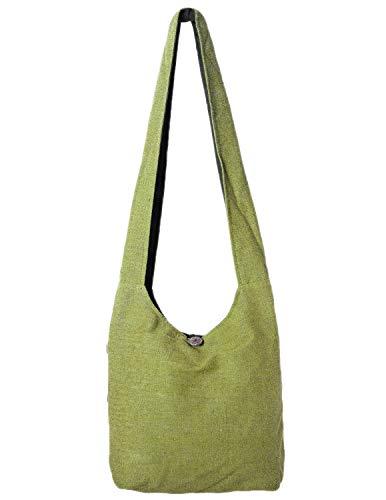 Vishes - Stoff Shopper Stofftasche Einkaufstasche Umhängetasche große Beuteltasche Schultertasche - Damen Herren hellgrün