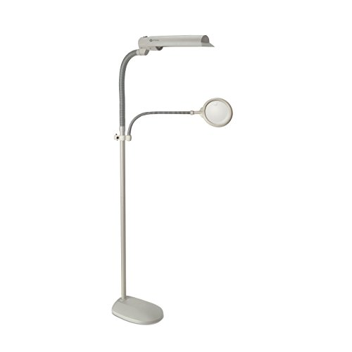 OttLite 18W EasyView Craft Floor Lamp - Dove G