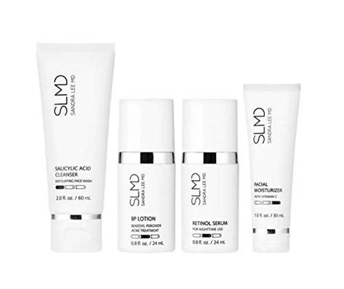 SLMD Skincare Acne System Kit! Salicylic Acid Clear Skin And Unclog Pores ! BP Lotion Kills Acne...