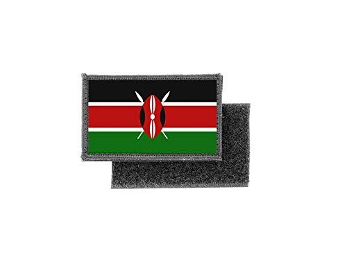 Aufnäher patch aufbügler gedruckt flagge fahne kenia