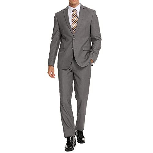 Henaet Grey Slim Fit Suit