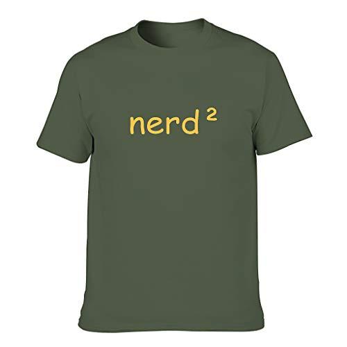 Camiseta de algodón para hombre Nerd Sarkasmus verde militar XXXXXXL