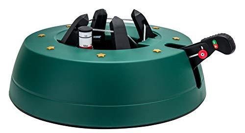 Star-Max S300 Christbaumständer START 3 - Baumhöhe max. 3,0m, Modell 2019 by F-H-S, mit Fußhebelfunktion und Einseiltechnik, 3,0 Liter Wassertank, grün