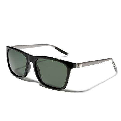 TIJN Gafas de sol polarizadas para mujer y hombre retro rectángulo gafas...