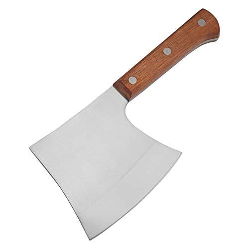 Cuchillo de cocina de acero inoxidable 4CR13 Forja de mano y cortando hueso Hacha Cuchillo (Color : A)
