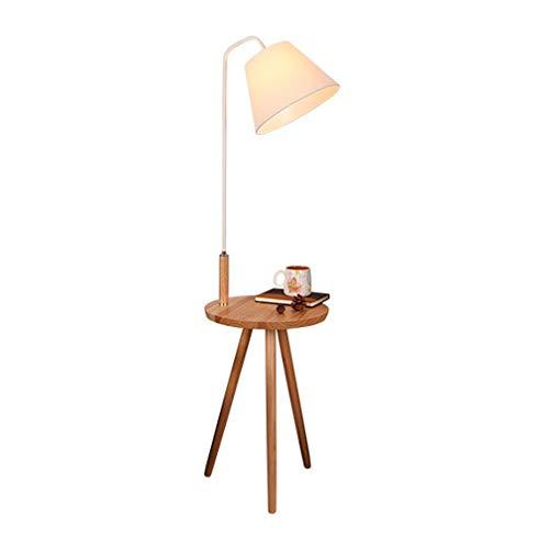 DSELP Lámpara de Suelo E27, Lámpara de Pie Lámpara Vertical en Madera...