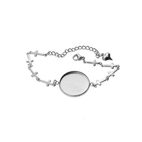 Exceart 5St Armband Bezel Instellingen Vormige Lege Armband Bezel Trays Kruis Ketting Armbanden Sieraden Bevindingen Bedels Voor Diy Ambachtelijke Armband Maken Van Accessoires