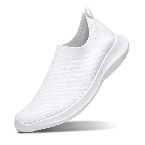 MATRIP Slip on Shoes for Women White Nursing Nurse Walking Sneakers Best Fashion Zapatos deportivos para Damas Gym Athletic Shoes Casual,Size 7