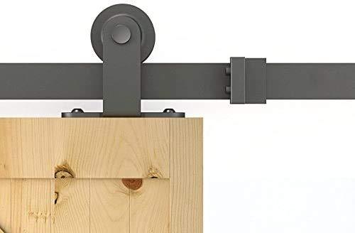 Schiebetürbeschlag, Schiebetür Komplettset, Laufschienen für Schiebetürsystem (200CM/6.6FT, T-Form)