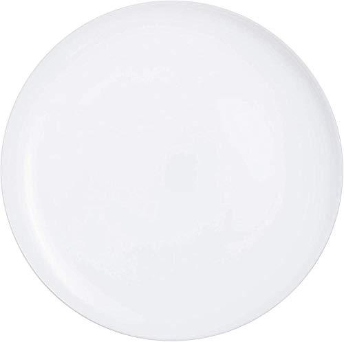 Time Opal Glass Steak Pasta Pizza para cenar pescado (6 platos negros)