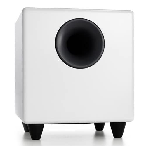 Audioengine S8 250W Powered Subwoofer, Built-in Amplifier (White)
