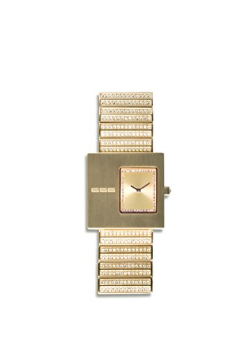666Barcelona Damen Analog Quarz Uhr mit Edelstahl Armband 666-122