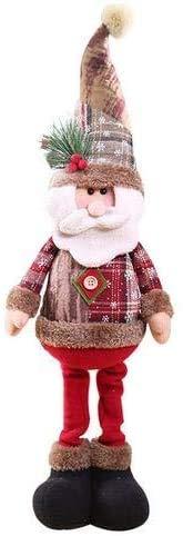 Afaneep Decorazione Natalizia Gnomo 60 cm di Altezza Gambe Retrattili Fatte a Mano Pupazzo di Neve di Natale Bambole di Pezza Babbo Natale Pupazzo di Neve Alce Natale Decorazione e Regalo