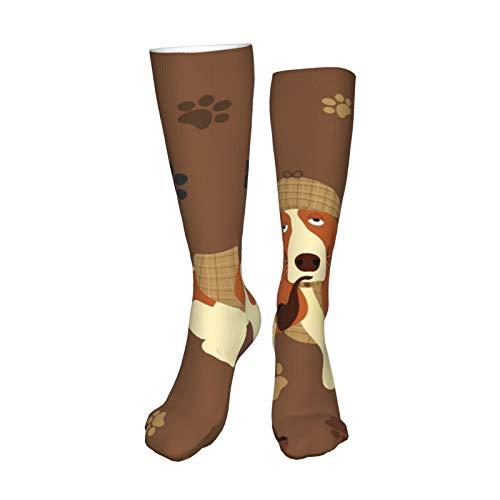 ZVEZVI Calcetines de compresión de gran diseño para mujeres y hombres, los mejores médicos para correr, vuelo atlético, recuperación de circulación de viajes, 19.8 pulgadas