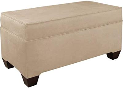Strange Amazon Com Homepop Leatherette Storage Bench With Wood Tray Inzonedesignstudio Interior Chair Design Inzonedesignstudiocom