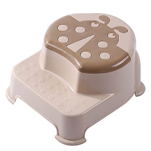XYW Taburete de presión de plástico - Taburete de bebé Taburete de Lavado Paso Paso Baño Paso Paso Paso Aumento Heces Heces Antideslizante Taburete Lavar Taburete (Color : #2)