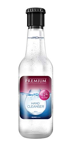 Premium Hand Cleanser, 62% Alcohol content with Cologne fragrance, from the house of Raymond, 400ml