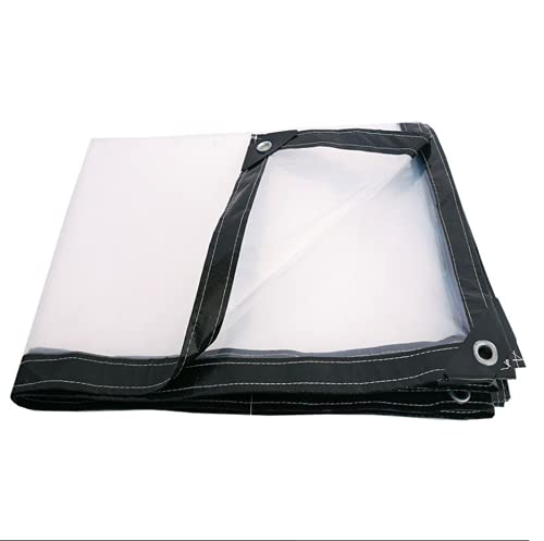 JHNEA Lona Transparente Impermeable, 5 Mil Multi Purpose Impermeable 120 g/m² Polietileno para Camiones Aire Puerto La Industria,Clear_3x6m