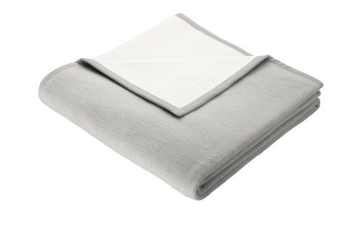 Bocasa by biederlackborbo 66208 Wohn- und Schlafdecke Exquisite Cotton ca. 150 x 200 cm, Silber