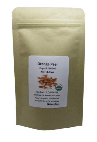 Organic Orange Peel - Dried Orange Peel - Small Cut from California (4 oz)