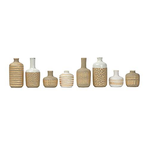 Main + Mesa Set of 8 Stoneware Vase - Assorted Colors