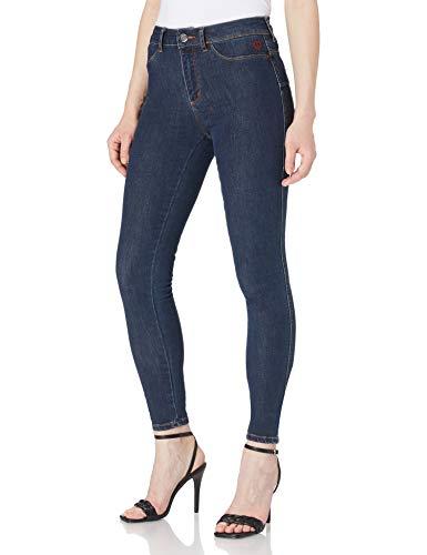 Desigual Denim_2skin II Pantalones Informales, Azul, 36 para Mujer