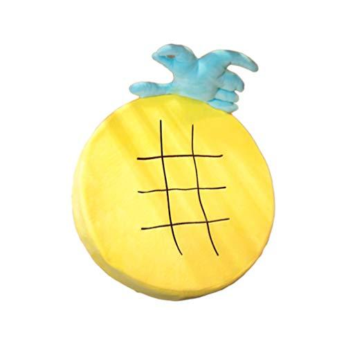 Garneck Cojín del Asiento de La Silla de Dibujos Animados Esponja Rellena de Fruta de Piña Creativa Almohada de Respaldo Almohada de Peluche de Juguete para Sofá Coche (Amarillo)