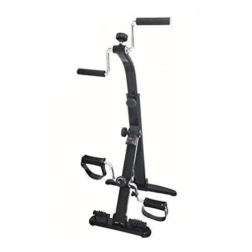 HOUSEHOLD Bicicleta de Entrenamiento de rehabilitación Plegable para Ancianos, Bicicleta estática de Pedales con Contador automático y Equipo de Masaje, Dispositivo de Entrenamiento de rehabilitación