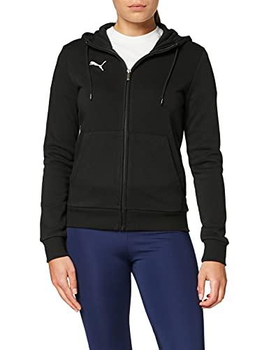 PUMA Damen teamGOAL 23 Casuals Hooded Jacket W Trainingsjacke, Black, L
