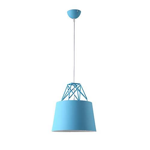 L.TSA Nordeuropa Einfache und Stilvolle Einstellbare Eisen Kronleuchter Postmoderne Persönlichkeit Ideen Aluminium Pendelleuchte Restaurant Wohnzimmer Farbe Deckenleuchte (Farbe: Blau)