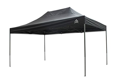 All Seasons Gazebos, 3x4.5m, Heavy Duty, Fully Waterproof, PVC Coated, Premium Pop Up Gazebo + Carry Bag With Wheels & 4 x Superior Leg Weight bags. Choice of colours (Black)