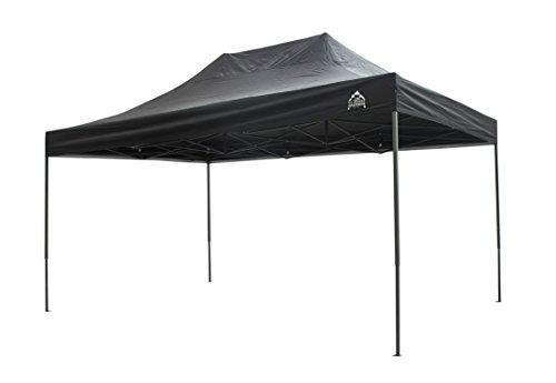 All Seasons Gazebos 3x4.5 Fully Waterproof Pop up Gazebo With Accessories - Black