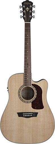 Washburn HD10SCE-O Heritage 10 Series Acoustic Cutaway Guitar, Natural