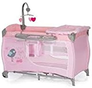 Hauck Baby Centre Travel Cot + Changing Table multi dots Pink
