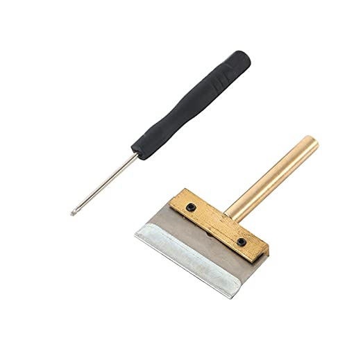 HJTYQS UV Glue Clean Tools Set 60W T Solder Iron Tip with Blade+T5 Screwdriver Remove Residue LOCA Adhesive for Mobile Phone Screen