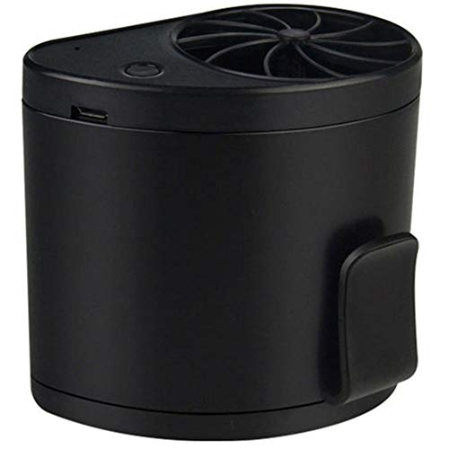 HEQIE-YONGP Mini Ventilador de Escritorio portátil Ventilador Ventilador portátil de 3 velocidades, Escritorio, Cintura, Bolsillo ABS, Bolsillo con Soporte