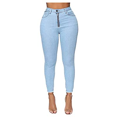 Excursion Clothing Women's Hem Ripped Skinny Jeans Distressed Jeans Slim Fit Stretch Skinny Jeans High Waist Denim Pants