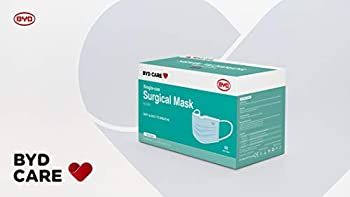 50-Pack Byd Care Single Use Disposable 3-Ply Procedural Mask