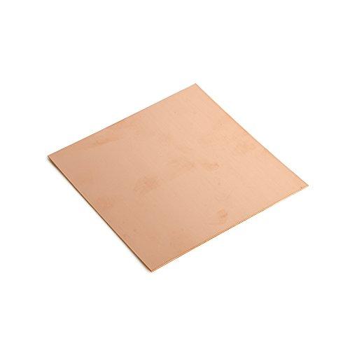 WireJewelry 20 Gauge 0.032 Dead Soft Copper Sheet Metal - 6x6 Inch