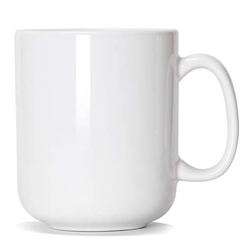 20 OZ grande tasse à café, tasse de patron en céramique simple Smilatte M016 avec poignée pour papa homme, blanc