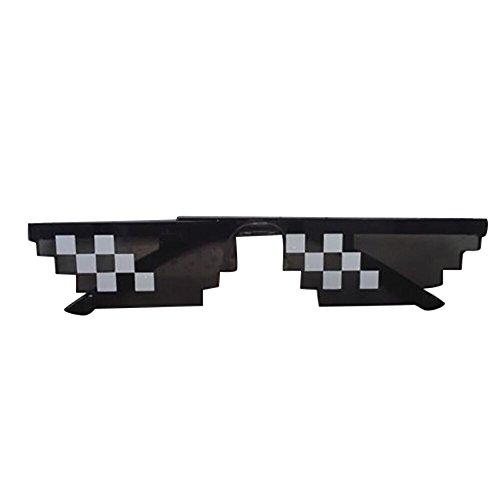 Topgrowth Occhiali da Sole Unisex 8 Bit Pixel Deal Toy Mosaico Finto Occhiali Divertenti Oggetti Per Feste Sunglasses Toy (B)