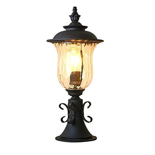 JJZXD Lámpara de Pared para Exteriores Europa Villa Retro Lámpara de Aplique Impermeable Exterior Jardín Puerta Luz Lámpara de Porche Vintage