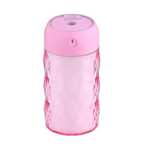 Ningz0l Mini-luchtbevochtiger, etherische oliediffuser, USB-draagbaar, 200 ml, glazen fles, luchtbevochtiger, nachtlampje, stille synchronisatie, bescherming voor auto, aromatherapie yellow