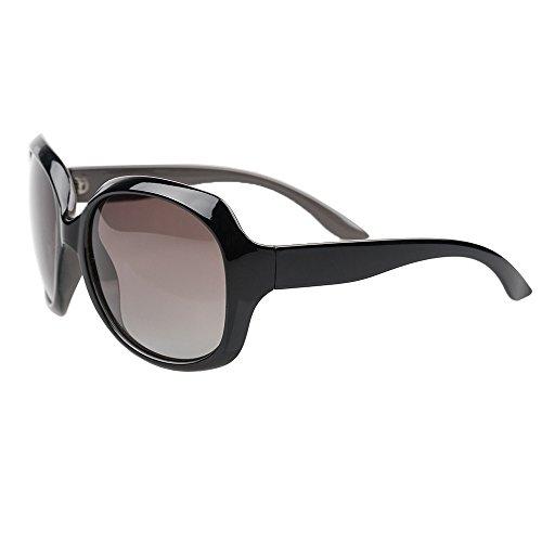 B BIDEN BLDEN Mujer Grande Gafas De Sol moda polarizadas gafas UV400 Protección Para Conducción GL3113-BROWN
