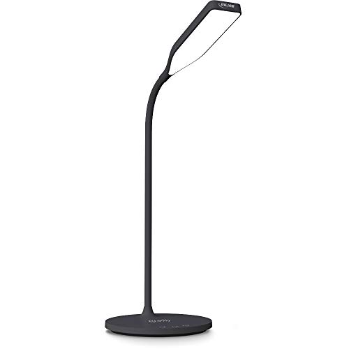 InLine® SmartHome LED Tischleuchte mit Qi-Ladefläche und USB Ausgang, schwarz, 59903S