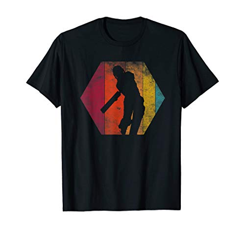 Cricket Vintage Retro Shirt Players Gift | T-Shirt for Men Women Comfortable Fit Wearable Anywhere, White and Black In Sizes S-5xl