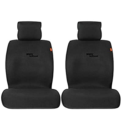 Sojoy Universal Breathable Isothermal Car Seat Cover Cushion for Front 2 Seats (Mid-Sized Cover Set)
